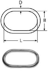 Звено соединительное 13мм кольцо овальное спаянное усиленное, нерж. сталь А4 Крепика дом крепежных материалов