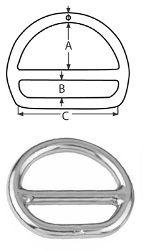 Звено соединительное 6*50 кольцо D-образное спаянное с перемычкой, нерж. стальА4 Крепика дом крепежных материалов
